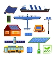 Solar energy set vector image vector image