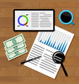 financial statistics concept vector image