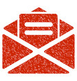 open mail grunge icon vector image