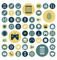 flat design icons for technology and media vector image vector image