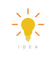 idea - minimalist concept ilustration vector image vector image