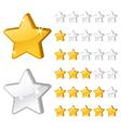 Rating stars vector image
