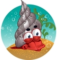 red lobster snail vector image