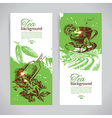 Set of tea vintage banners vector image vector image