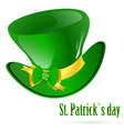 St Patrick's green hat vector image