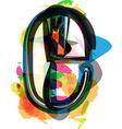Artistic Font - Letter e vector image