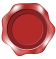 blank wax seal or label vector image