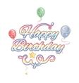 Happy birthday isolated text vector image