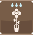 flower in flowerpot vector image vector image