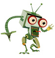 Cute TV monster vector image