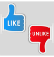 Like and unlike labels vector image