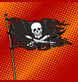 pirate flag with jolly roger pop art vector image