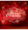 Red Christmas greeting card design vector image