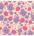 Strawberries seamless pattern background vector image
