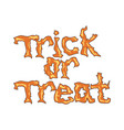 trick or treat message vector image