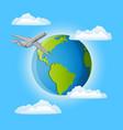 trip around the world vector image