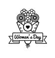 World Womens day greeting emblem vector image