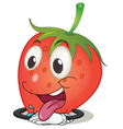 a strawberry vector image vector image