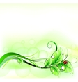 Blur green background with ladybirth vector image