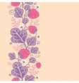 Strawberries vertical seamless pattern background vector image vector image