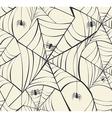 Happy Halloween spider webs seamless pattern vector image