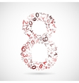 number eight from numbers vector image