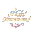 Happy anniversary isolated text vector image vector image