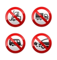 Set prohibited symbols - transport vector image