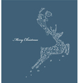 reindeer made of floral vector image vector image