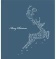 reindeer made of floral vector image