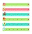 Cartoon character ice cream web banners vector image