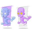 cartoon funny ghost characters set vector image