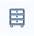 Chest of drawers sketch icon vector image