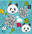 colorful seamless background with cute chinese vector image