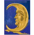 Cresent moon design vector image