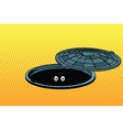 Funny monster in the underground city sewer vector image
