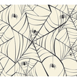 Happy Halloween spider webs seamless pattern vector image