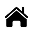home icon - iconic design vector image