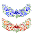 ornament with ethnic flowers and leaves vector image