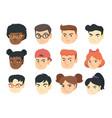 set of kids angry emoji cartoons vector image