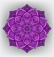 violet floral round ornament vector image