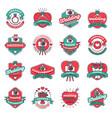 wedding fashion badges vector image