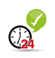 support 24 hours check in vector image