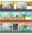 set of veterinary care concept posters vector image