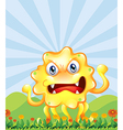 An angry monster near the hills vector image