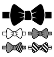 Bow Tie Icons Set vector image