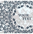 Ornamental mandala round frame for your text vector image vector image