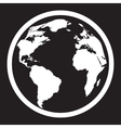 Icon of black and white globe vector image
