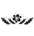 black element with flower for design vector image
