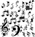curled notes vector image